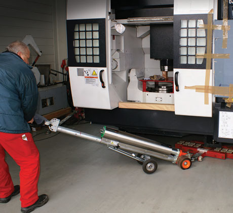 PowerAttack moving a large CNC machine.
